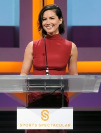 Olivia Munn on stage at the 2014 Sports Spectacular Gala