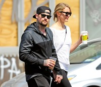 Benji Madden and Cameron Diaz hold hands in NYC on June 3, 2014