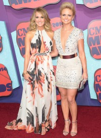 Carrie Underwood and Miranda Lambert at the CMT Music Awards.