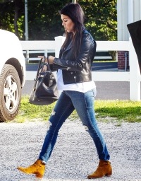 Kourtney Kardashian and her baby bump on June 11, 2014
