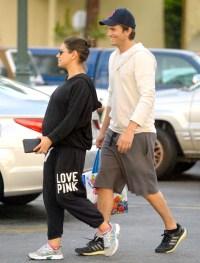Mila Kunis and Ashton Kutcher grocery shopping Ralph's on June 14