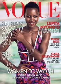 Lupita Nyong'o on the cover of VOGUE