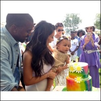 Kim Kardashian shares a picture of North West celebrating her birthday