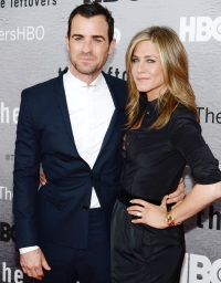 Justin Theroux and Jennifer Aniston attend an event on June 23, 2014