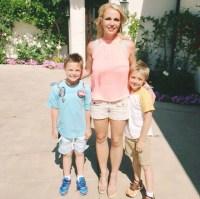 Britney Spears with sons Sean Preston and Jayden James