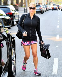 Jessica Simpson shows off her toned legs on June 25, 2014.