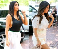 Kim Kardashian and Kourtney go to lunch in the hamptons