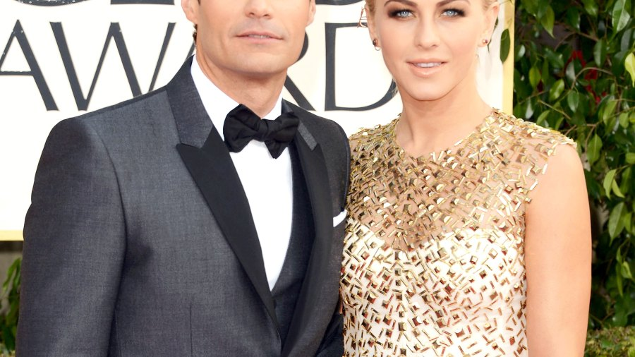 Ryan Seacrest and Julianne Hough at the 70th Annual Golden Globe Award