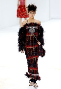 Kendall Jenner walks the Chanel Haute Couture show in Paris