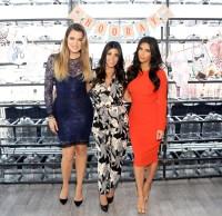 Khloe, Kourtney and Kim Kardashian on July 7, 2014 in Jersey City