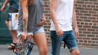 Penn Badgley and girlfriend Domino Kirke in the West Village
