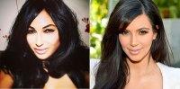 Claire Leeson a Kim Kardashian lookalike
