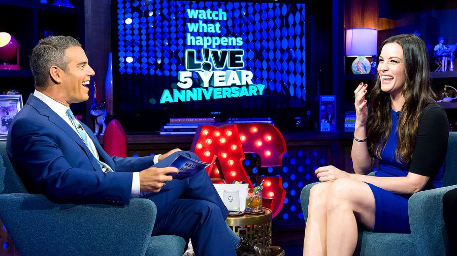 Andy Coen and Liv Tyler on WWHL