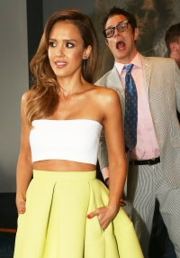 Jessica Alba and Johnny Knoxville
