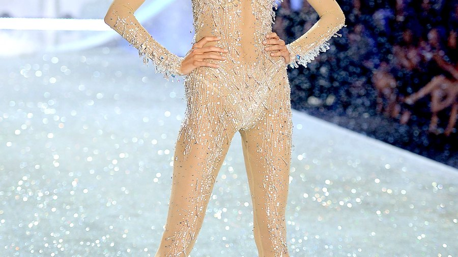 Karlie Kloss on the runway at the 2013 Victoria's Secret Fashion Show