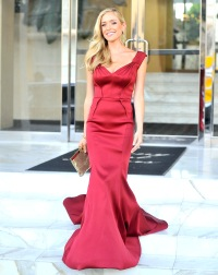 Kristin Cavallari stuns in a red gown as she heads out on July 27