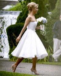 Cheryl Hines in her wedding dress in Hyannis Porton August 2, 2014