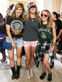 Sophia Bush and Connie Britton at at Lollapalooza on Aug 3, 2014
