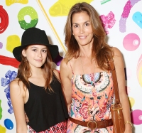 Cindy Crawford and daughter Kaia on May 17, 2014