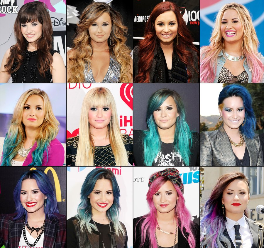 Demi Lovato S Ever Changing Hair Color Us Weekly