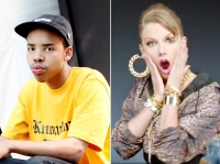 """Earl Sweatshirt and Taylor Swift in her new video """"Shake It Off"""""""