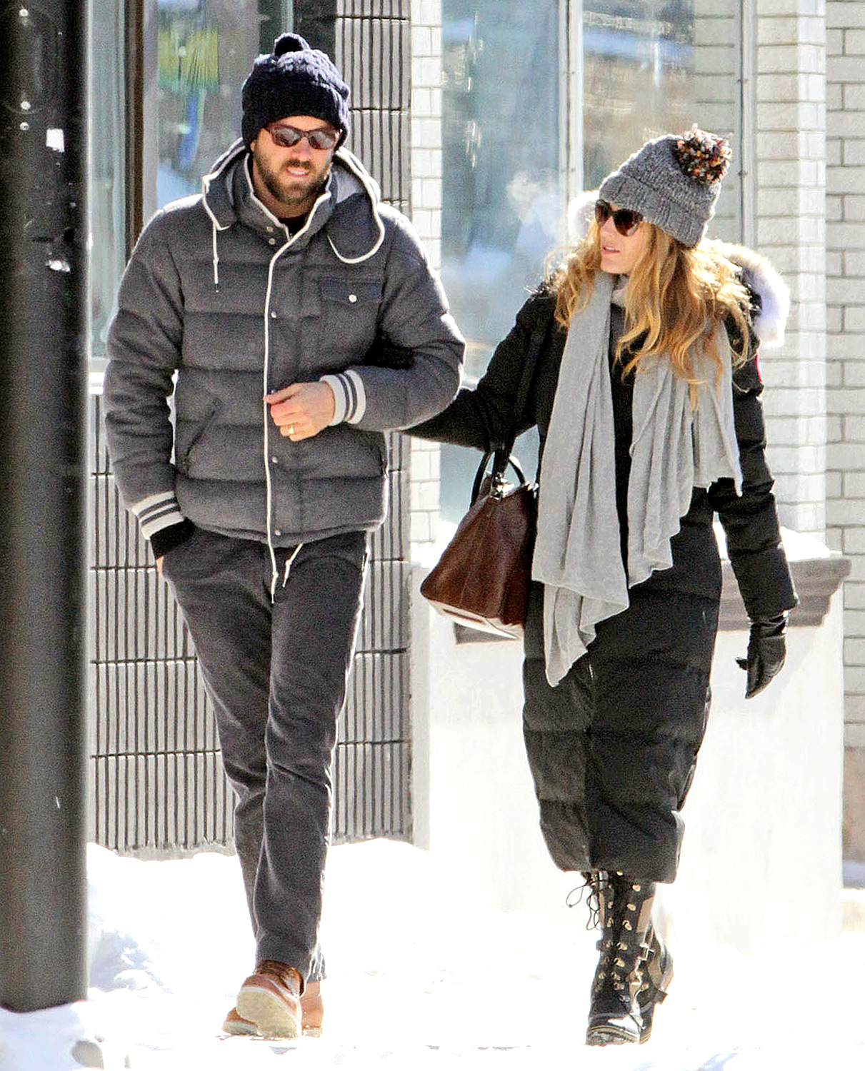 "Reynolds and Lively braved the cold weather together while stopping by the Artisan Bakery in NYC. ""Right now, I'm so peaceful,"" the Gossip Girl star said in the October 2012 issue of Allure magazine."