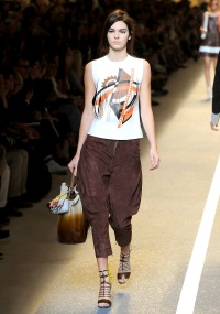 Kendall Jenner walks on the runway during the Fendi fashion show