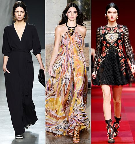 Kendall Jenner at Milan Fashion Week