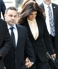 Joe Giudice arrives for his sentencing hearing on October 2, 2014