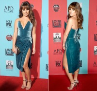 "Lea Michele at the premiere for ""American Horror Story: Freak Show"""