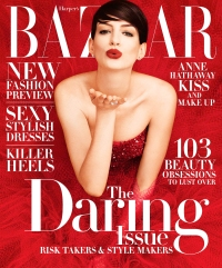 Anne Hathaway on the cover of Harper's Bazaar