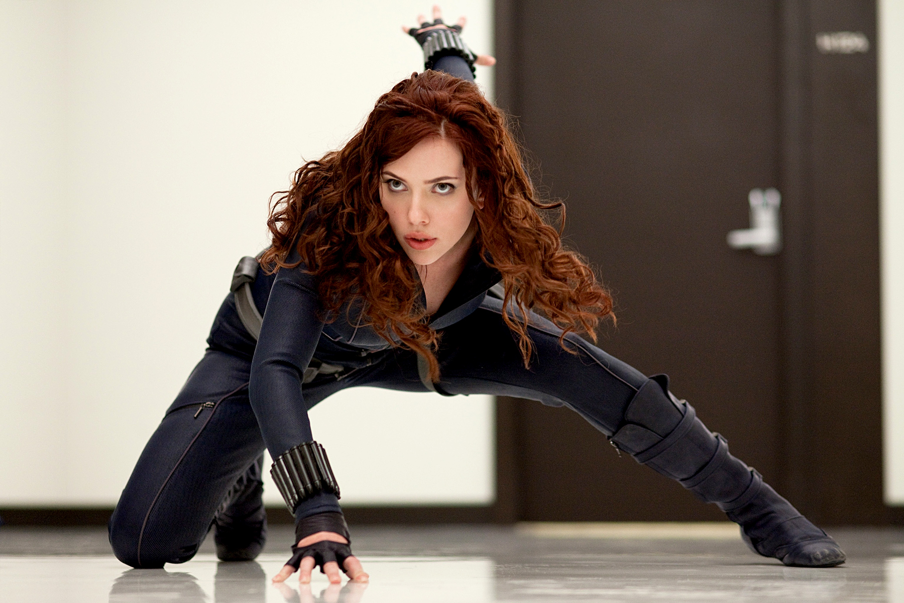 In Iron Man 2 , Scarlett Johansson poured herself into a sleek catsuit to play Black Widow. In 2012 she joined the rest of the crew in The Avengers, and did the same for 2014's Captain America: The Winter Soldier.
