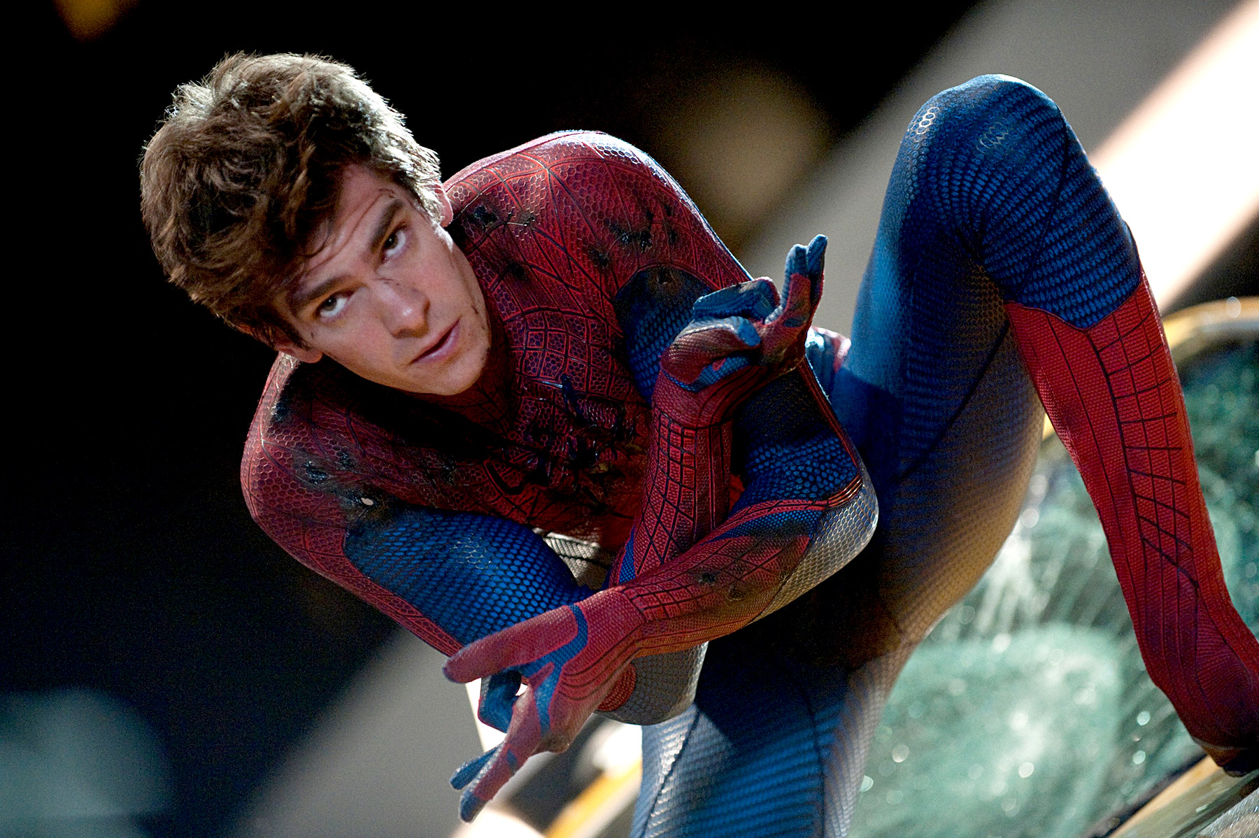 From the world wide web to web slinger! The Social Network star Andrew Garfield took on the role of your friendly neighborhood hero in 2012's The Amazing Spider-Man and 2014's The Amazing Spider-Man 2 .