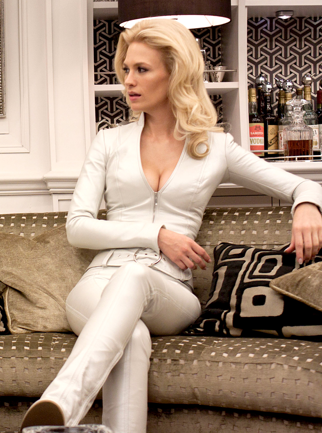 Mad Men 's January Jones portrayed the icy Emma Frost in the 2011 Marvel flick X-Men: First Class.