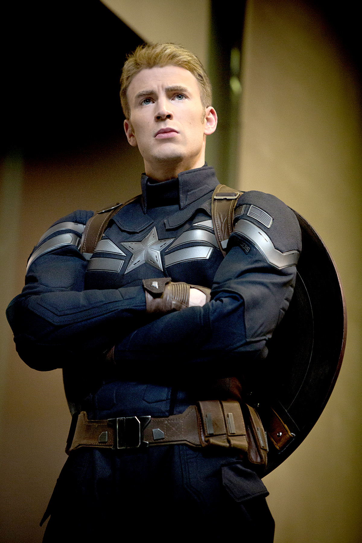 Chris Evans broke out the stars and stripes as Steve Rogers/Captain America in 2011's Captain America: The First Avenger , 2012's The Avengers , 2013's Thor: The Dark World , and 2014's Captain America: The Winter Soldier.