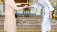 Angelina Jolie and Queen Elizabeth