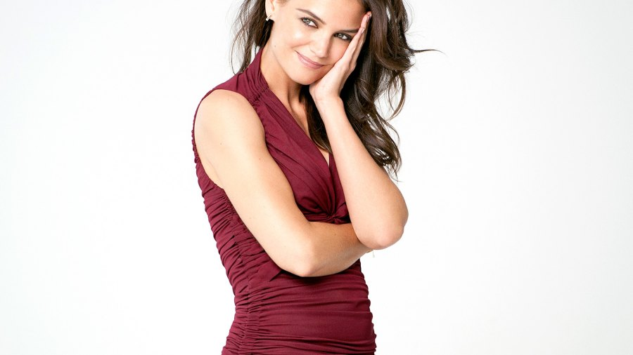 Katie Holmes on set for Olay's recent advertising shoot