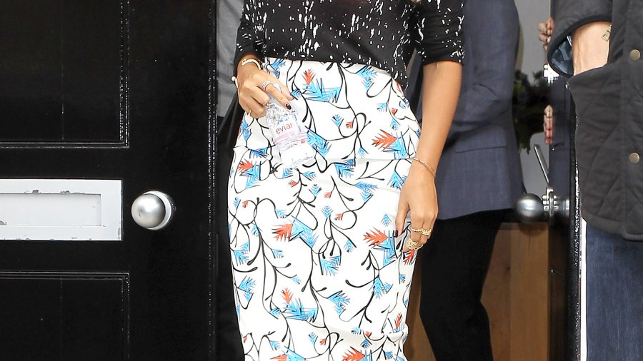 Beyonce Knowles seen leaving a gallery on October 15, 2014 in London.