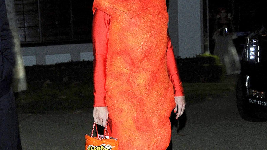 Katy Perry is seen at Kate Hudson's annual Halloween party on Oct. 30.