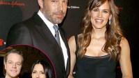 Ben Affleck, Jennifer Garner, Matt Damon, Luciana spending Thankgiving