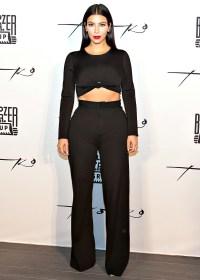 Kim Kardashian at Toko restaurant in Dubai on Nov. 24, 2014.