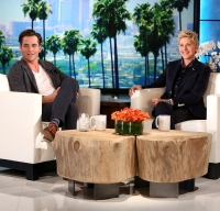 Chris Pine appears on Ellen