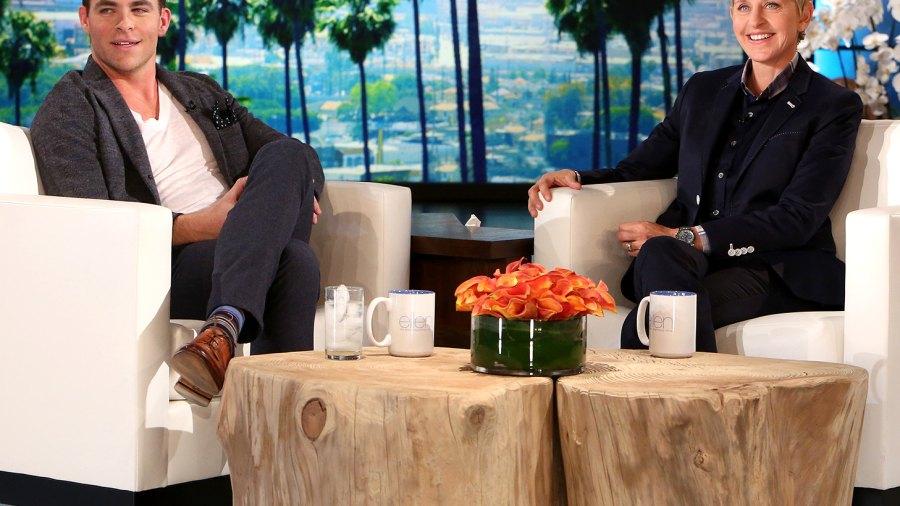 Chris Pine appears on Ellen