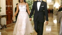 Michelle and Barack Obama at the White House in Washington Dec. 7.
