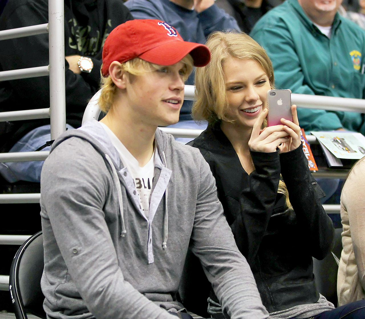 """Swift — who's pals with the Glee star's brother, Hot Chelle Rae's Nash Overstreet — """" reached out to Chord ,"""" an insider told Us . The two hit an L.A. Kings NHL home game in February 2011, where a source added, """"after the event, Taylor and Chord grabbed a bite. He's into her."""""""