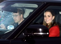 Prince William and Kate Middleton leave Buckingham Palace on Dec. 17