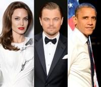 Angelina Jolie, Leonardo DiCaprio and President Barack Obama