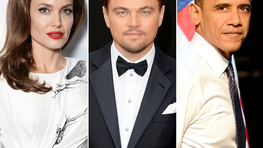 Angelina Jolie, Leonardo DiCaprio and President Barack Obama