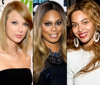Taylor Swift, Laverne Cox, and Beyonce