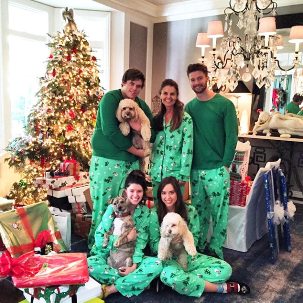 Celebrities Wearing Matching Holiday Christmas Pajamas Pics